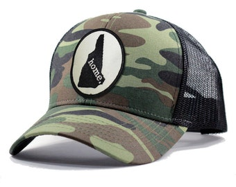 Homeland Tees New Hampshire Home Army Camo Trucker Hat