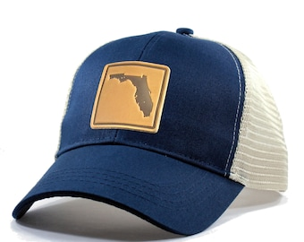 Homeland Tees Florida Leather Patch Hat - Trucker
