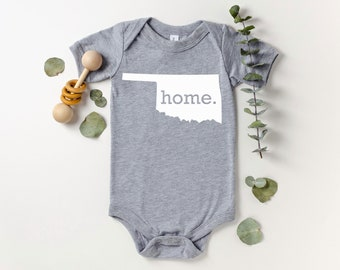 Homeland Tees Oklahoma Home Bodysuit Coming Home Outfit Shower Gift Newborn Baby Boy Girl