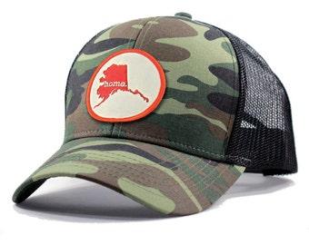 Homeland Tees Alaska Home Army Camo Trucker Hat