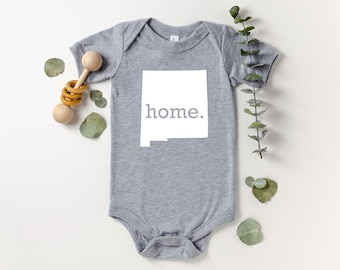 Homeland Tees New Mexico Home Bodysuit Coming Home Outfit Shower Gift Newborn Baby Boy Girl