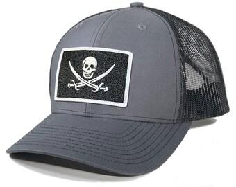Homeland Tees Calico Jack Pirate Flag Trucker Hat