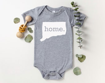 Homeland Tees Connecticut Home Bodysuit Baby Boy Girl Newborn Coming Home Outfit Shower Gift