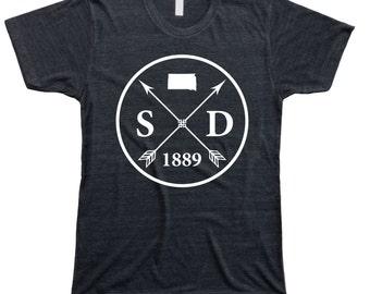 Homeland Tees Men's South Dakota Arrow T-Shirt
