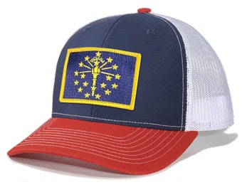 Homeland Tees Indiana Flag Patch Trucker Hat