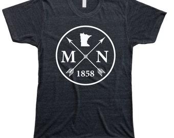 Homeland Tees Men's Minnesota Arrow T-shirt