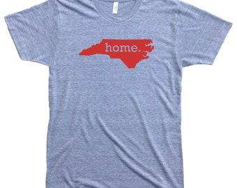 Homeland Tees Men's North Carolina Home T-Shirt RED LOGO