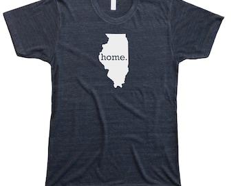 Homeland Tees Men's Illinois Home T-Shirt