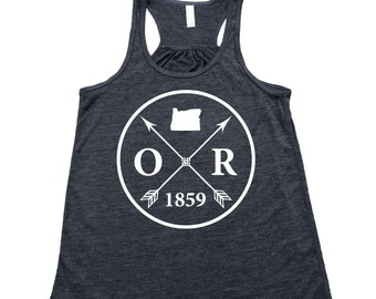 48579b791c2 Homeland Tees Oregon Arrow Flowy Tank Top