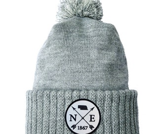 Homeland Tees Nebraska Arrow Patch Cuff Beanie