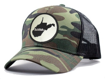 Homeland Tees West Virginia Home Army Camo Trucker Hat - More Colors Available