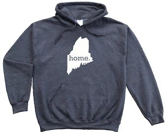 Homeland Tees Maine Home Pullover Hoodie Sweatshirt