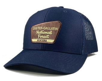 Homeland Tees Custer Gallatin National Forest Montana Patch Trucker Hat