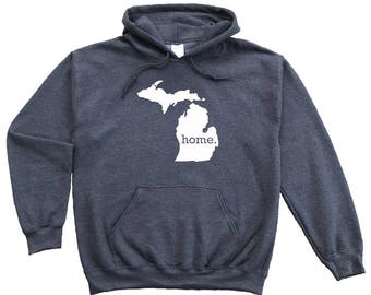 Homeland Tees Michigan Home Pullover Hoodie Sweatshirt