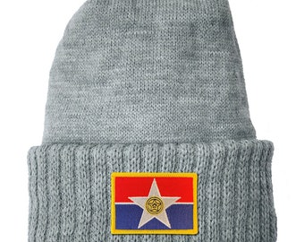 Homeland Tees Dallas Texas Flag Patch Cuff Beanie