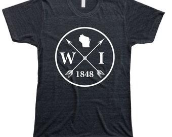 Homeland Tees Men's Wisconsin Arrow T-Shirt