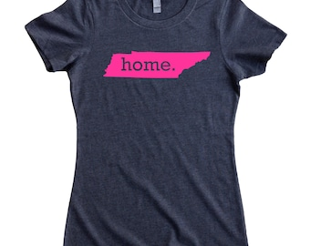 Tennessee Home State T-Shirt Women's Tee PINK EDITION - Sizes S-XXL