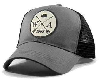 4a0397ba8cded Homeland Tees Washington Arrow Hat - Trucker