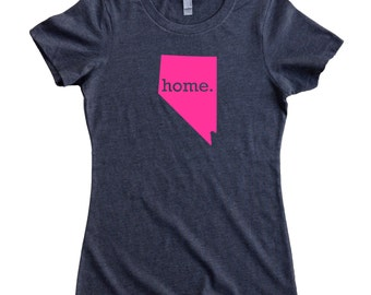 Nevada Home State T-Shirt Women's Tee PINK EDITION - Sizes S-XXL