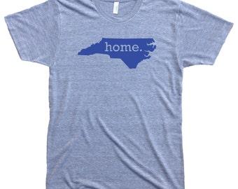 Homeland Tees Men's North Carolina Home T-Shirt BLUE LOGO