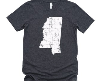 Homeland Tees Mississippi State Vintage Look Distressed Unisex T-shirt