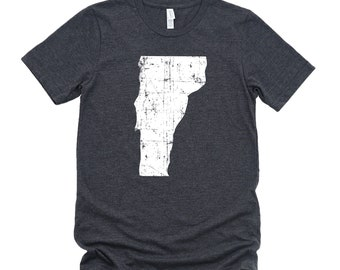 Homeland Tees Vermont State Vintage Look Distressed Unisex T-shirt