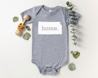 Homeland Tees Kansas Home Bodysuit Baby Boy Girl Newborn Coming Home Outfit Shower Gift