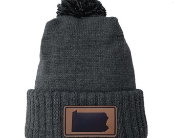Homeland Tees Pennsylvania Leather Patch Cuff Beanie