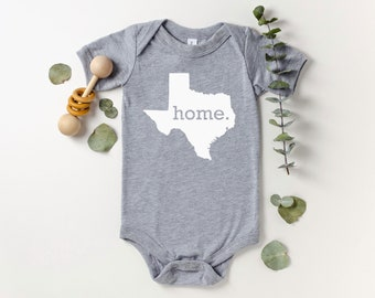 Homeland Tees Texas Home Bodysuit Baby Boy Girl Newborn Coming Home Outfit Shower Gift