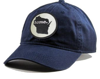 Homeland Tees Wisconsin Home Hat - Navy Cotton Twill
