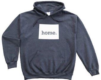 Homeland Tees Wyoming Home Pullover Hoodie Sweatshirt