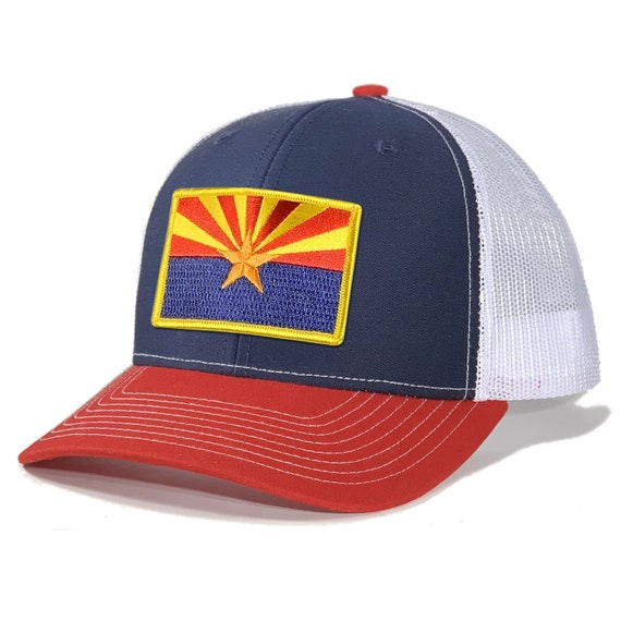 Homeland Tees Mens Arizona Leather Patch Army Camo Trucker Hat