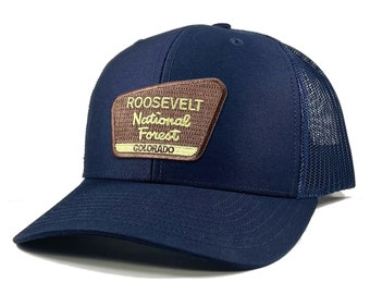 Homeland Tees Roosevelt National Forest Colorado Patch Trucker Hat