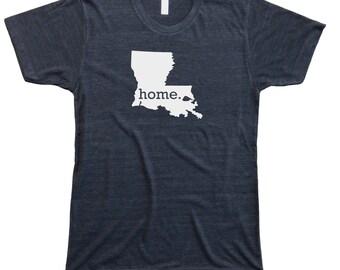 Homeland Tees Men's Louisiana Home T-Shirt