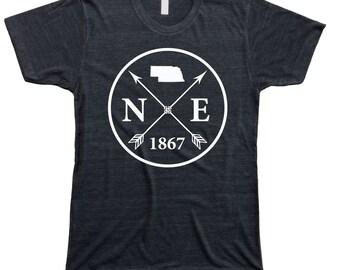 Homeland Tees Men's Nebraska Arrow T-Shirt