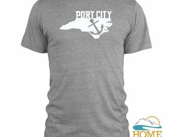 PORT CITY Wilmington North Carolina State T-Shirt Homeland Tees