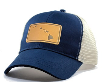 Homeland Tees Hawaii Leather Patch Hat - Trucker