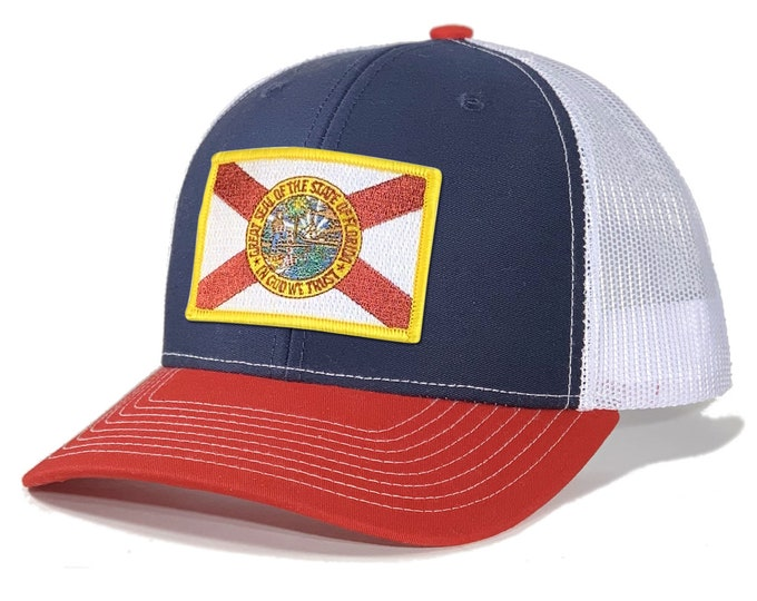 Featured listing image: Homeland Tees Florida Flag Patch Trucker Hat