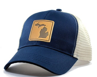 Homeland Tees Michigan Leather Patch Hat - Trucker