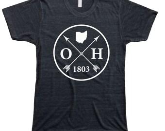 Homeland Tees Men's Ohio Arrow T-Shirt