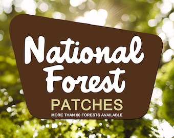 """National Forest Patch Embroidered Iron or Sew 3"""" x 2"""""""