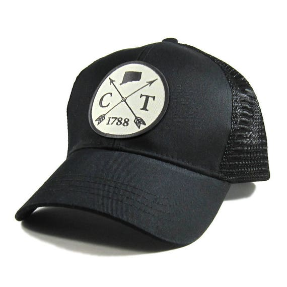 af064f9a289 Homeland Tees Connecticut Arrow Hat All Black Trucker