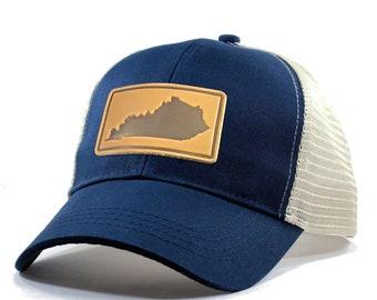 Homeland Tees Kentucky Leather Patch Hat - Trucker