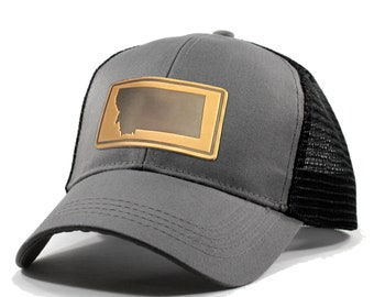 Homeland Tees Montana Leather Patch Hat - Trucker