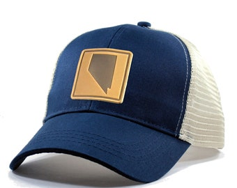 Homeland Tees Nevada Leather Patch Hat - Trucker