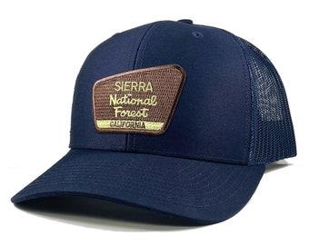 Homeland Tees Sierra National Forest California Patch Trucker Hat