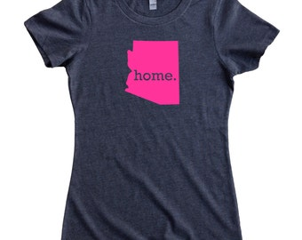 Homeland Tees Arizona Home State Women's T-Shirt - PINK EDITION