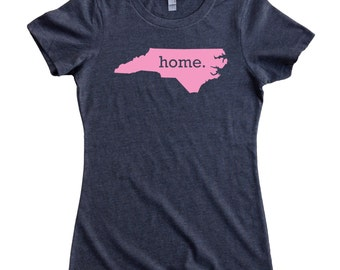 North Carolina Home State T-Shirt Women's Tee PINK EDITION - Sizes S-XXL