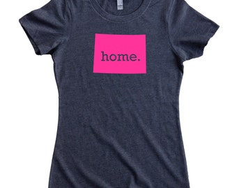 Homeland Tees Colorado Home State T-Shirt Women's Tee PINK EDITION