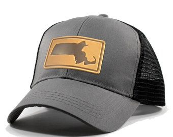 Homeland Tees Massachusetts Leather Patch Hat - Trucker